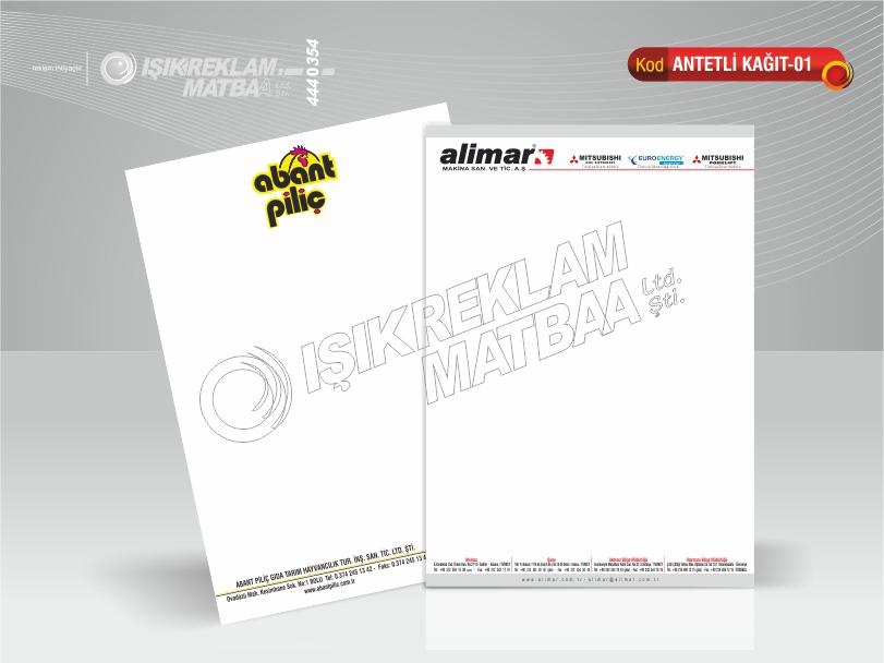 Antetli Kağıt 01