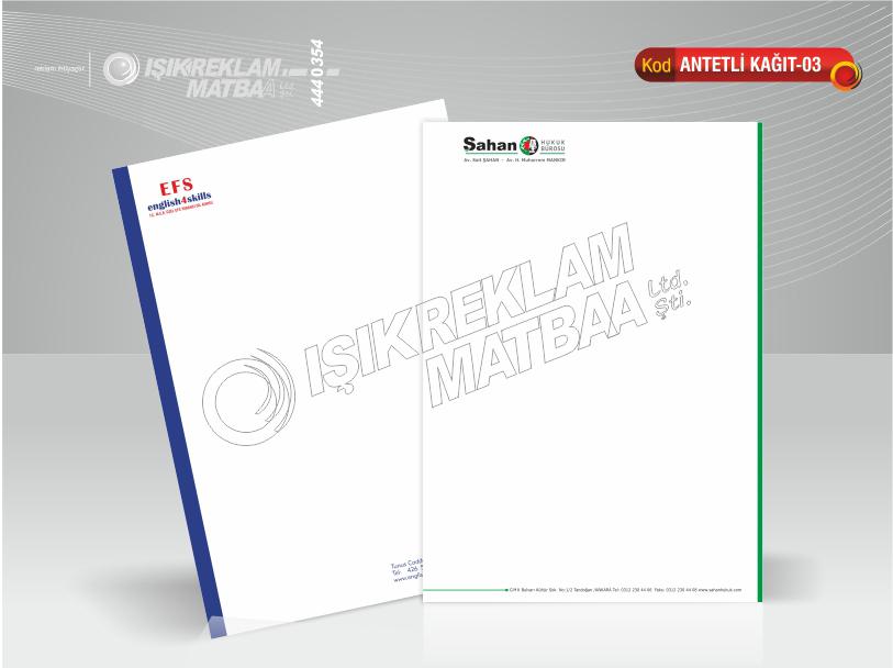 Antetli Kağıt 03